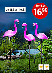 Bild Gartenstecker Flamingos
