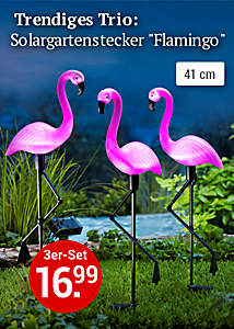 Bild Solargartenstecker Flamingo
