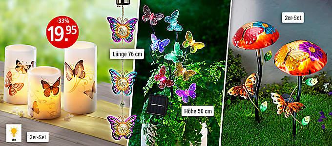Licht-Deko Schmetterling