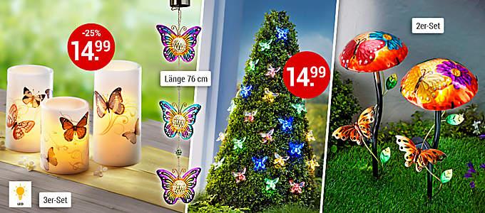 Bild Lichtdeko Schmetterling