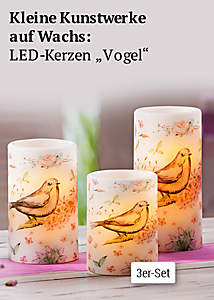 LED-Kerzen Sommerwiese