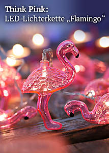 Bild Licherkette Flamingo