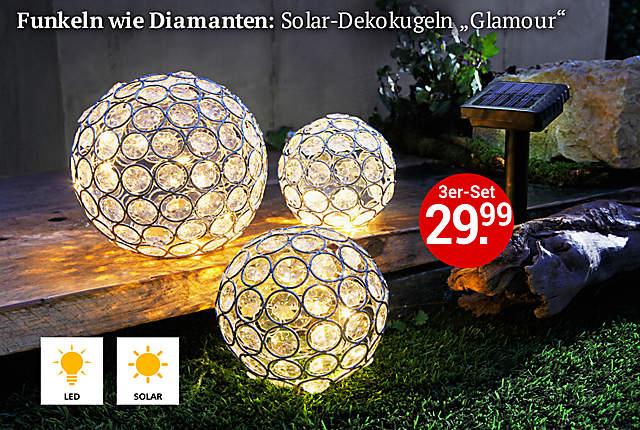 Bild Solardekokugel Glamour