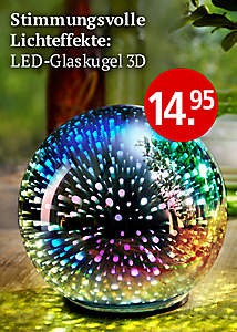 Bild LED-Glaskugel 3 D