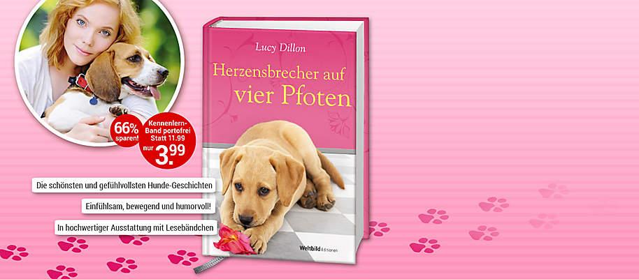 """#Freunde fürs Leben: Hier sind die schönsten Hunde-Geschichten  Kaum etwas ist bewegender als die bedingungslose Liebe und Treue eines Hundes, der uns sein Herz zu Füßen legt. Deshalb ist die **Weltbild-Edition """"Hundeliebe""""** ein MUSS für alle, die Hunde lieben. Geschichten, die Sie zu Tränen rühren oder zu einem herzlichen Lachen bringen werden!  **Starten Sie mit """"Herzensbrecher auf vier Pfoten""""** Als Rachel von ihrer Tante ein Heim für herrenlose Hunde erbt, kehrt sie London den Rücken. Und siehe da: Die charmanten Vierbeiner geben ihrem Leben eine ganz neue Richtung. Aber nicht nur Rachel, sondern auch die allein erziehende Mutter Zoe lernt an der Seite ihrer schwanzwedelnden Begleiter eine Menge über Freundschaft, Treue und bedingungslose Liebe …  {{ button href=""""/weltbild-editionen/romane-dokumentationen/hundeliebe/bestellen"""" text=""""Jetzt bestellen""""}} {{ button href=""""https://www.weltbild.de/news/downloads/Hundeliebe_Band_Herzensbrecher.pdf"""" text=""""Zur Leseprobe"""" }}"""