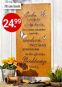 "Bild Metallbild ""Liebe"""