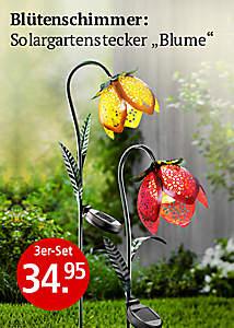 Solargartenstecker Blume