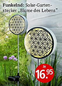 Solargartenstecker Blume des Lebens