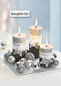 Bild Kerzenset Silberglanz
