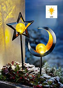 Bild LED-Gartenstecker Stelle & Luna