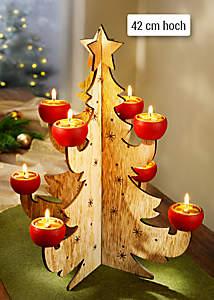 Bild Lichterbaum aus Holz