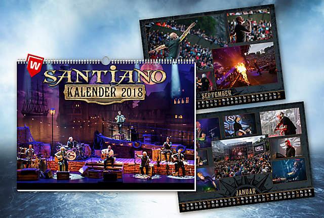 Nur bei uns: Santiano-Kalender 2018