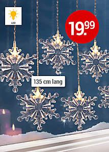 """Bild  LED-Lichtervorhang """"Schneeflocke"""""""