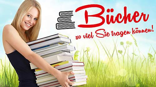 Gewinnen Sie Bücher, so viel Sie tragen können!