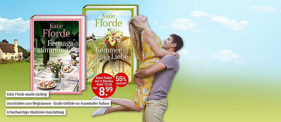 """#Liebe, Gefühle und Romantik!  Freuen Sie sich auf die heiter-romantischen Romane der britischen Bestseller-Autorin Katie Fforde.    **Einmalige Autoren- Edition in hochwertiger Ausstattung**.  **Starten Sie mit """"Sommer der Liebe""""** Sian ist mit ihrem kleinen Sohn aufs Land gezogen. Dort lernt sie die fröhliche Fiona kennen, die ihr bald eine mütterliche Freundin wird. Beide sehnen sich nach ein bisschen Erfrischung in Sachen Liebe, daher will Sian die Affäre mit einem treuen Verehrer wiederbeleben. Doch das Schicksal hat ganz andere Pläne und präsentiert ihnen das Glück eines Tages gleich im Doppelpack ...  **Entdecken Sie auch den zweiten Band """"Festtagsstimmung"""" aus Ihrem exklusiven Start-Paket! **   {{ button href=""""/weltbild-editionen/romane-dokumentationen/katie-fforde/bestellen"""" text=""""Jetzt bestellen""""}} {{ button href=""""https://www.weltbild.de/news/downloads/Leseprobe_Katie_Fforde.pdf"""" text=""""Zur Leseprobe"""" }}"""