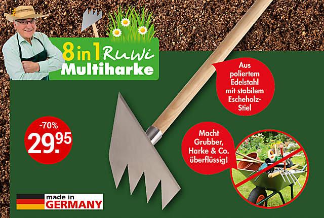 Ruwi Multi-Harke 8in1 Edelstahl