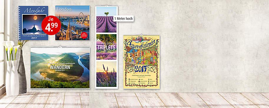 """#Bunte Vielfalt:<br> Unsere Kalender 2017# Weltbild bietet eine **riesige Auswahl** an Kalendern für 2017. Ob **edle Panoramakalender** mit traumhaften Motiven, **Mondkalender** -  mit Tipps für ein Leben im Einklang mit der Natur,  **humorvolle Abreißkalender** oder unser **beliebter Familienplaner** jetzt neu mit vielen Extras zum Download:   Bei uns findet jede(r) den richtigen Kalender! Freuen Sie sich auf viele großartige Kalender:<br>  * **Unsere Preis-Hits:** [Wochenplaner und Wandkalender](#deko-geschenke-kalender-linke-seite-bild-kalender-diaries-2017-wochenplaner-)<br>  * **Unser Bestseller:** [Mein Familienplaner 2017](#deko-geschenke-kalender-linke-seite-grossmutters-kuechenkalender-mein-familienplaner)<br>  * **Tierisch witzig:** [""""Uli Stein""""-Kalender](#deko-geschenke-kalender-linke-seite-bild-kalender-uli-stein-2017)<br>  * **Wandschmuck im Großformat:** [Premium-Kalender](#deko-geschenke-kalender-linke-seite-bild-premiumkalender-2017)<br> * **Beliebt:** [Abreißkalender & riesige Panoramakalender](#deko-geschenke-kalender-linke-seite-mein-buntes-jahr-abreisskalender-2017)<br> * **Tolle Auswahl:** [Und noch viele Kalender mehr](#deko-geschenke-kalender-linke-seite-empfehlungs-rectangles)  **Sichern Sie sich jetzt ihre Lieblingskalender 2017!**"""