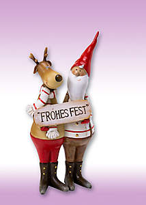 Bild Deko-Figur Santa und Rentier