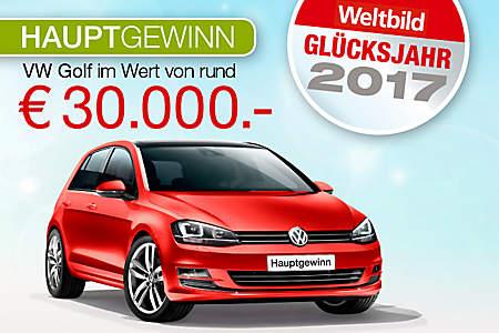 Hauptgewinn: VW Golf im Wert von rund 30.000.- €