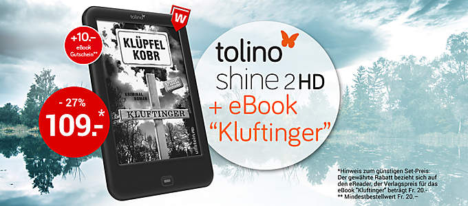tolino shine 2 HD inkl. eBook-Bestseller zum Spitzenpreis!