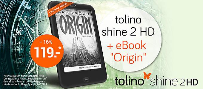 Bild tolino shine + Origin-Bundle
