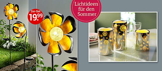 Beleuchtung & Lichtdeko: Neue Lichtideen für den Sommer!