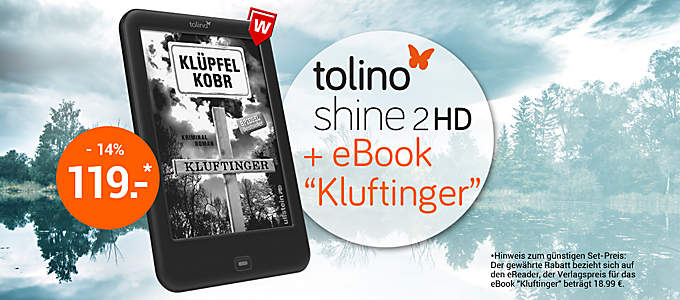 "tolino shine 2 HD + eBook ""Kluftinger"""