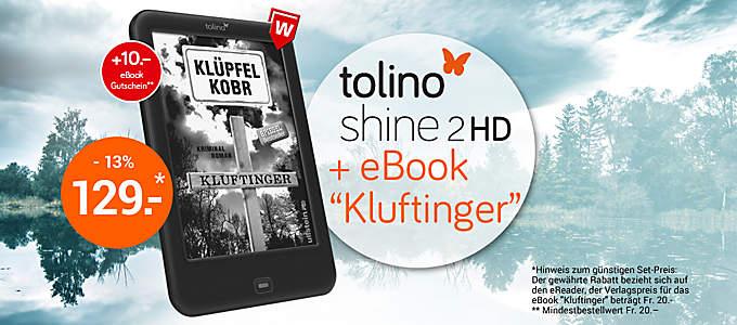 """Bild tolino shine 2 HD Bundle """"Kluftinger"""""""