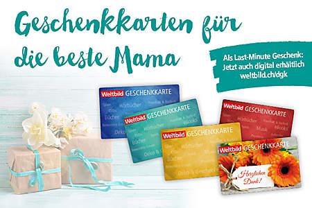 Die Weltbild Geschenkkarte - auch erhältlich in allen Filialen