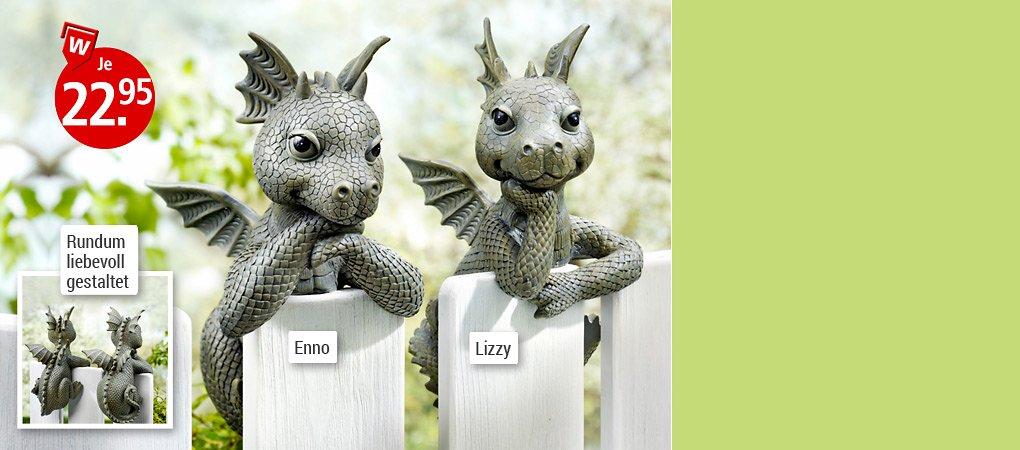 """Im Nu dekoriert: Zaungucker """"Lizzy"""" & """"Enno"""""""
