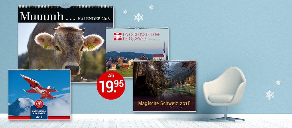 Schweizer Kalender für 2018