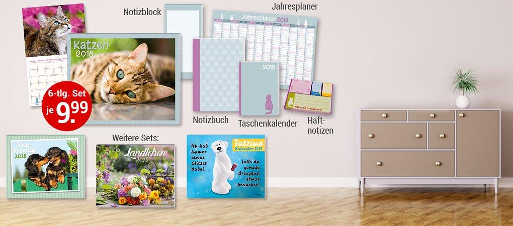 6-tlg. Kalenderpakete: jetzt frischer, moderner & günstiger