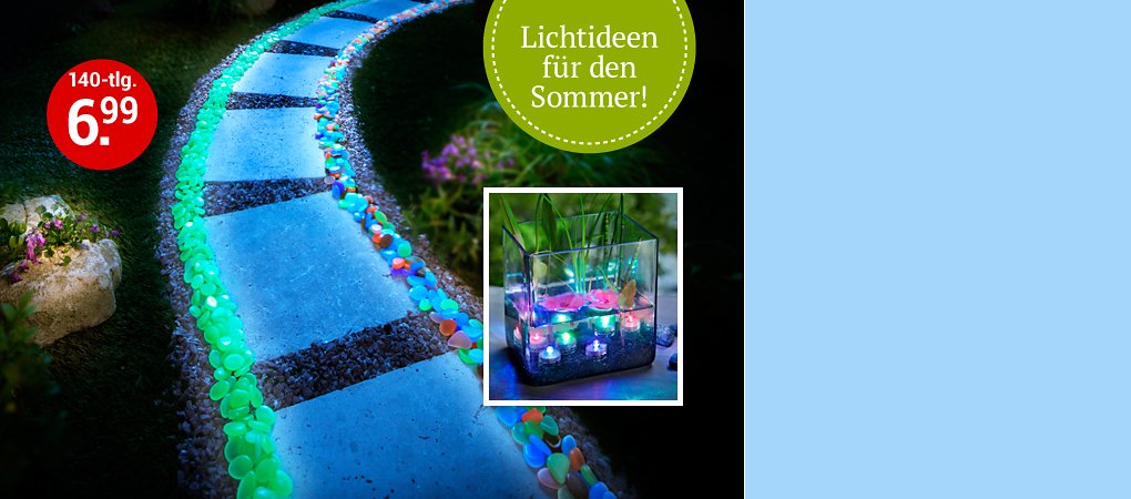 Beleuchtung und Licht-Deko Sommer 2018