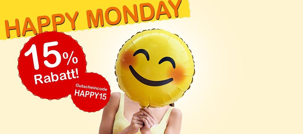 Happy Monday: 15% Rabatt