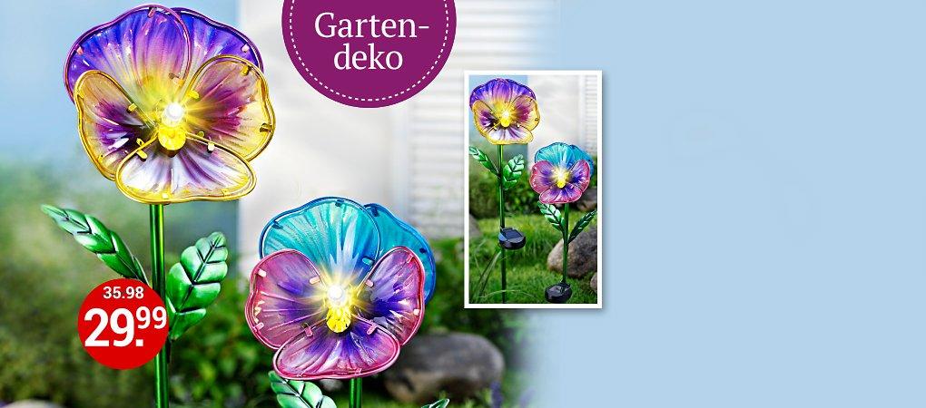 ee3056e00dc7e9 Im Sparset günstiger  Solar-Gartenstecker mit Glasblüten