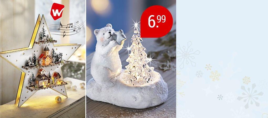 Willkommen in unserer Weihnachtswelt - entdecken Sie Weihnachtsdeko, Geschenke & mehr