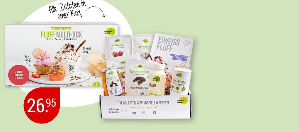 Fluff Multi-Box für Eis-, Dessert & Back-Fluff von Pumperlgsund (9 -teilig)