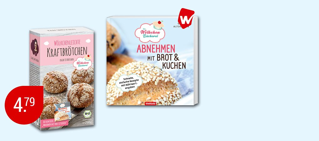 Wölkchenbäckerei, Buch + Backmischung