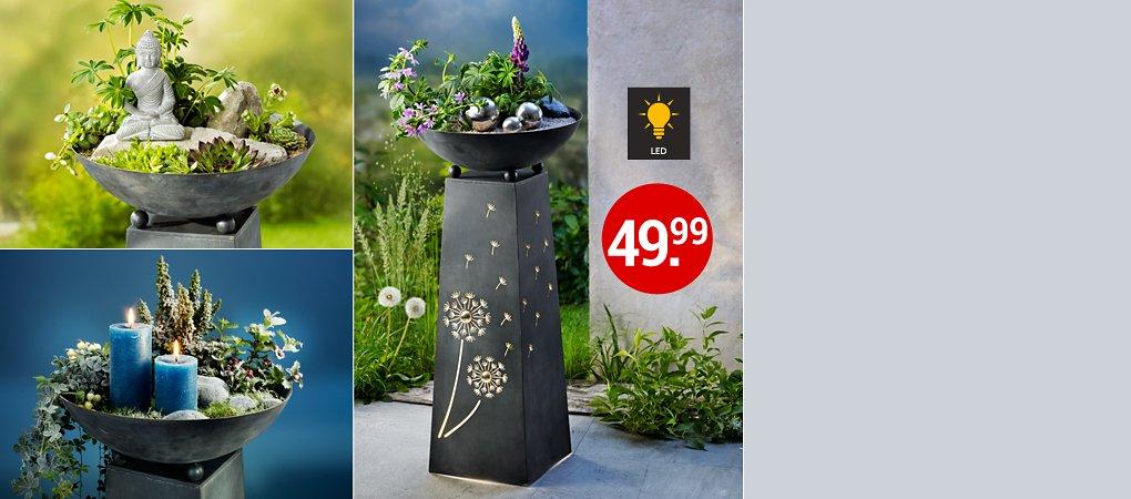 """Pflanzsäule """"Pusteblume"""" - rund ums Jahr toll zu dekorieren"""