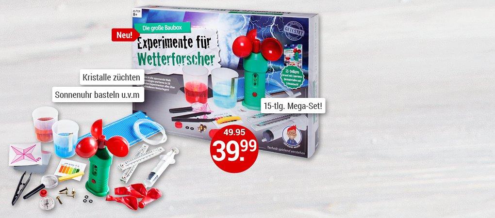 Experimente für Wetterforscher - die große Baubox!
