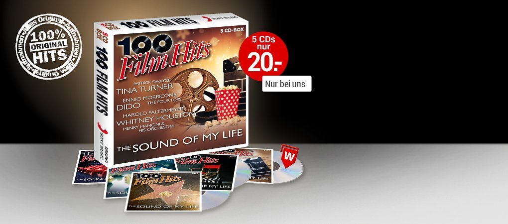 100 Film Hits 5CD-Box hier bestellen