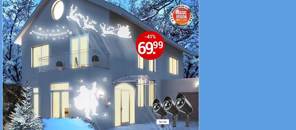 Magic Vision X-Mas-LED Strahler, 3er-Set