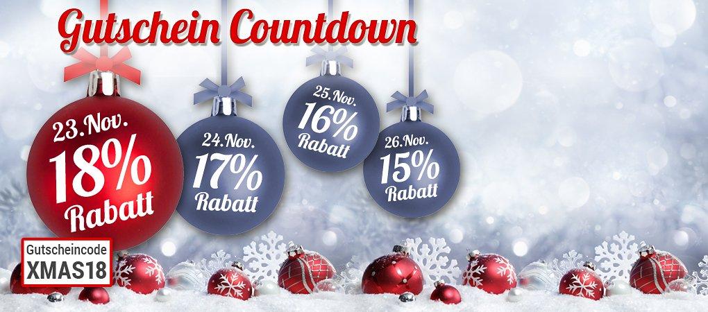 Nur heute: 18% Rabatt für Sie bei unserem Gutschein-Countdown!