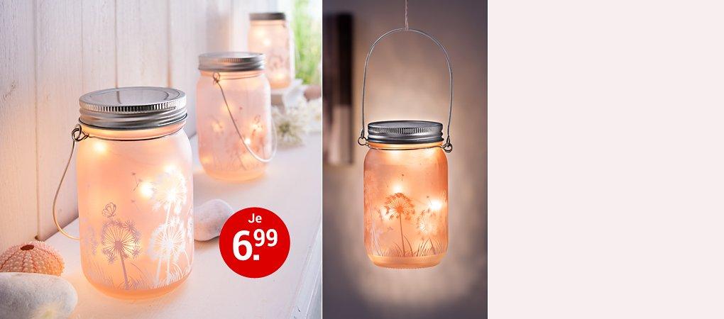LED Glasleucht Pusteblume
