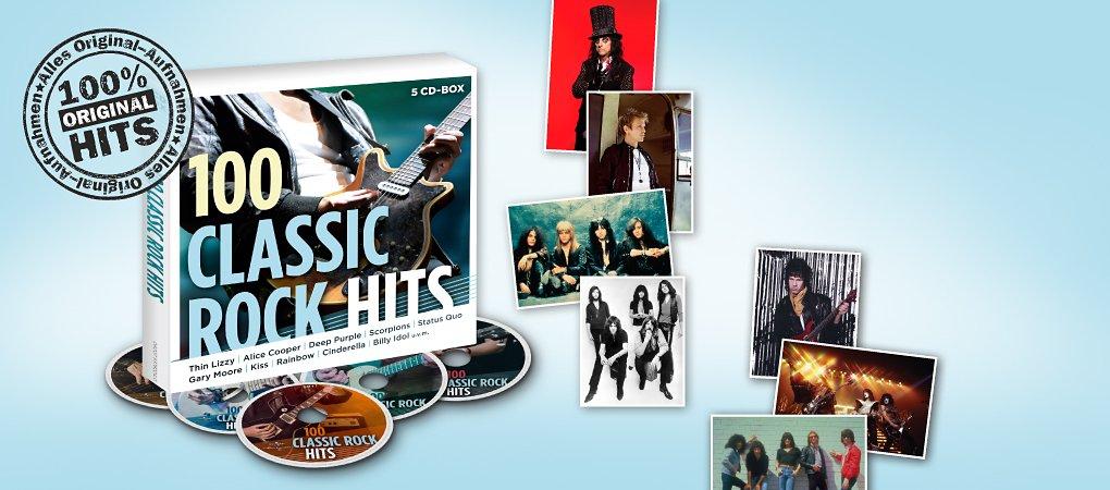 5 CDs vollgepackt mit grossartigen Classic Rock Hits