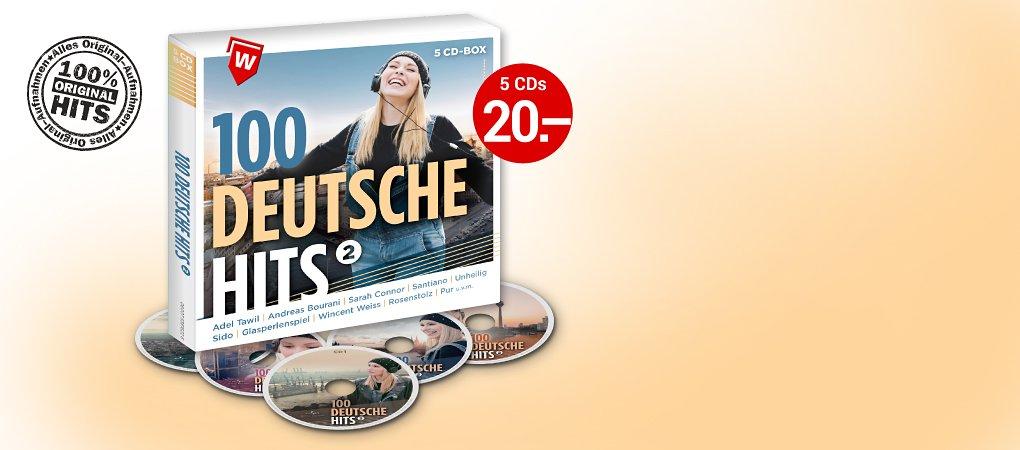 100 Deutsche Hits Vol. 5 - Die 5CD-Box hier kaufen!
