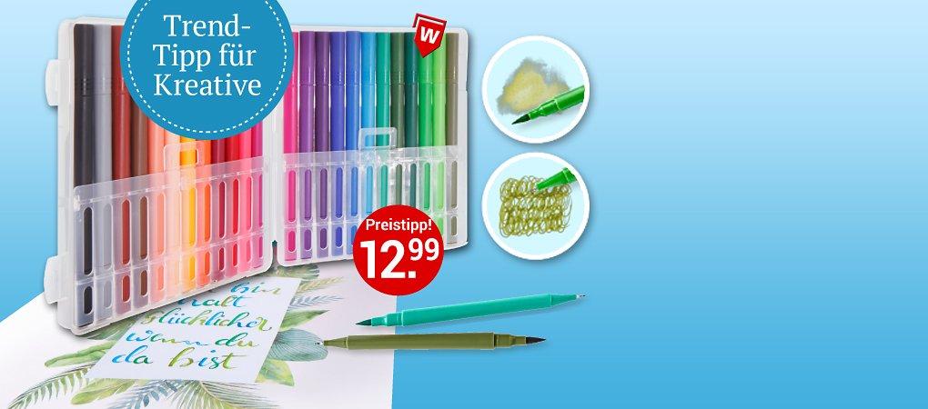 """24-teiliges Set """"Dual-Pinsel-Stifte"""" zum Malen, Schreiben..."""