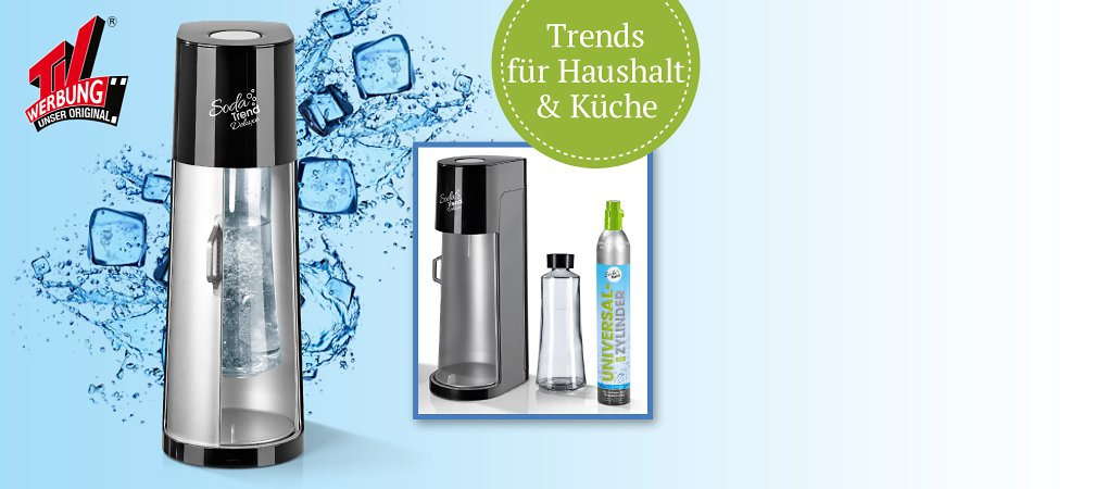 SodaTrend-Wassersprudler DeLuxe mit Glasflasche