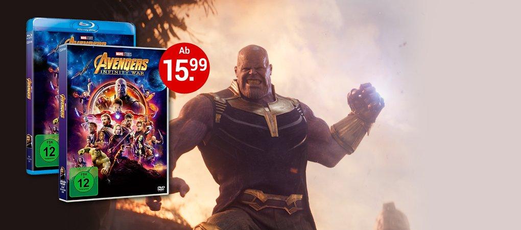 Avengers Infinity War DVD & Blu-ray jetzt kaufen!