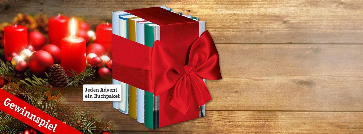 Gewinne jeden Advent ein Bücherpaket!